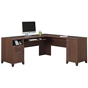 Bush business furniture bush industries achieve collection l shaped computer desk Home furniture rental indiana