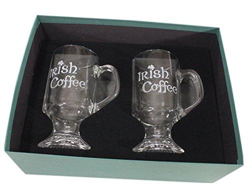 Irish Coffee Mug Glass Etched Recipe (Irish Coffee Mugs With Recipe compare prices)