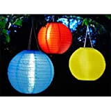 Smart Solar 3780WRM3 Red, Yellow and Blue Chinese Lantern - 3 Pack