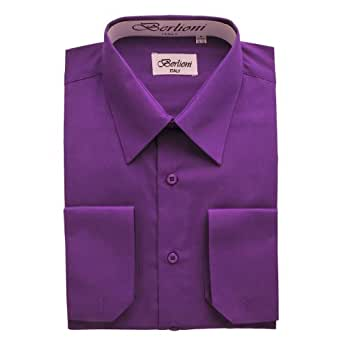 Elegant men 39 s button down purple dress shirt at amazon men for Royal purple mens dress shirts