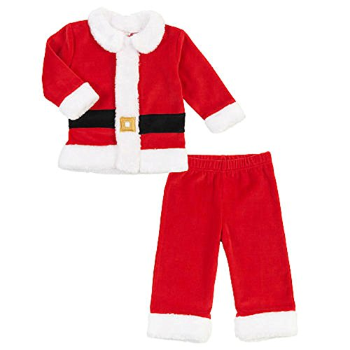 Koala Kids Baby Boys 2 Piece Velour Red Santa Suit Set Christmas Outfit