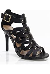 Breckelles Womens Open Toe Strappy Pumps