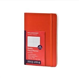 Moleskine 2014 Planner 18 Month Weekly Horizontal Red Pocket