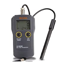 Hanna Instruments HI 99301N Waterproof EC/TDS/Temperature Meter, with Amperometric Technology, High Range