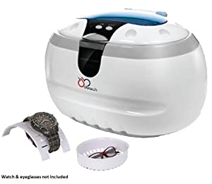DB-Tech Ultrasonic Cleaner with a 17-ounce Stainless Steel Cleaning Tank, Basket, Watch Holder, 3- Minute Cycle & Auto Shut-off - Generates 42,000 Ultrasonic Energy Waves Per Second