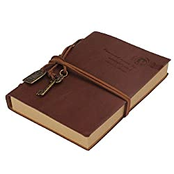Pixnor Journal Diary String Key Retro Vintage Classic Leather Bound Notebook