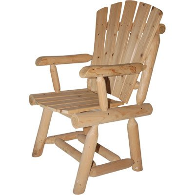 High-Back Cedar Log Adirondack Chair, Model# T-24N338MB