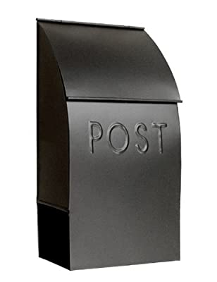 NACH mb-44902 POST Milano Pointed Mailbox, Black