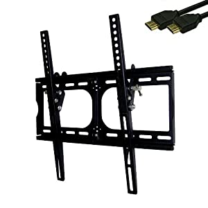 Heavy-duty TV Wall Mount Bracket + 10' HDMI Cable for 20, 26, 30, 32, 36, 40, 42, 47