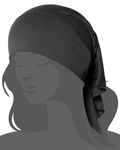Thiness Women's Ruffle Chemo Hat Beanie Scarf, Turban Headwear for Cancer Patients Grey One Size (Cancer Head Caps compare prices)