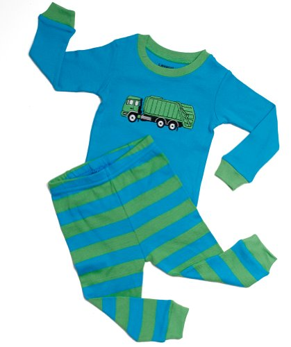 Green Cotton Pajamas back-990898