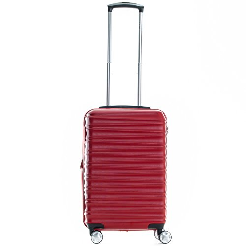 Hard-Sided Expandable Carry-On, Red