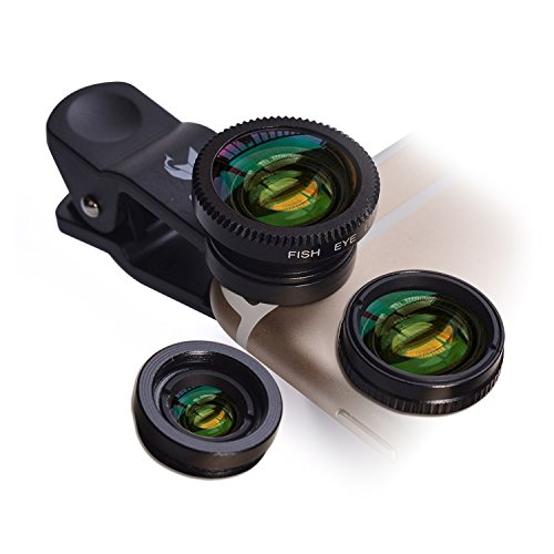 OldShark S1 Phone Camera Lens Kits 180 Degree Fisheye Lens 0.65X Wide Angle 10X Macro Lens Clip On Lens for iPhone 7/6s/6s Plus, Samsung S6, Samsung Note 5, Moto, HTC, Sony and More (Fisheye Lens Clip On Iphone 6 compare prices)