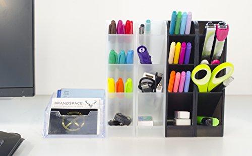 STYLIO Office Desk Organizer   Caddies For Office/ Teacher Supplies U0026  Business Card Holder
