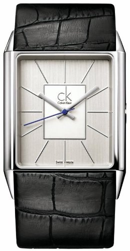 Calvin Klein Herren-Armbanduhr Angular Gent Leather