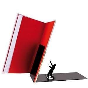 """Falling Books"" Falling Bookend Metal Bookend-Black 1 Piece"