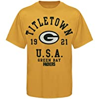 NFL Green Bay Packers Pigment Dyed Vintage Stadium Wear III T-Shirt - Gold from Nutmeg