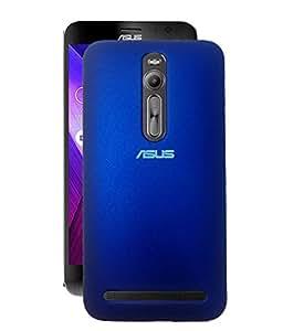 Fuson Rubberised Hard Back Case Cover For Asus Zenfone 2 ZE551ML - Dark Blue