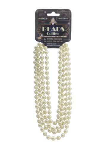 Ivory Flapper Beads Standard