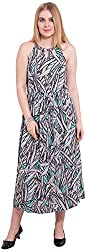 TightHugs Women's A-line Dress (340774209_M, Multi-coloured, Medium)