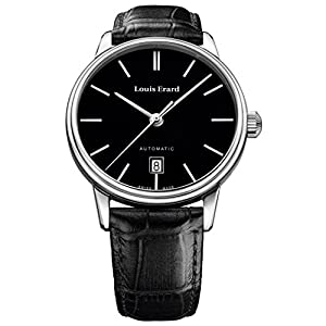 Louis Erard Men's Heritage 40mm Black Leather Band Steel Case Automatic Analog Watch 69266AA12.BDC82
