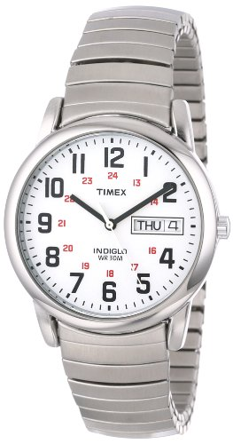 """Timex Men'S T20461 """"Easy Reader"""" Stainless Steel Watch front-634343"""