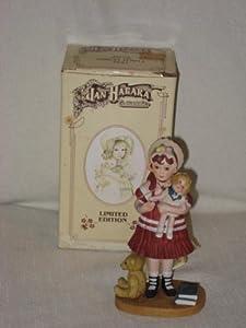 "1982 Jan Hagara ""Lydia And The Shirley Temple Doll "" Porcelain Figurine"
