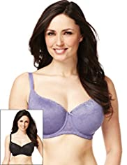 2 Pack All-Over Lace T-Shirt Balcony DD-G Bras