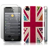 iPhone 4S / iPhone 4 'Hope and Glory' Union Jack (Designed by Creative Eleven) TPU Gel Skin / Case / Cover + Screen Protector - Part Of The Qubits Accessories Rangeby Qubits