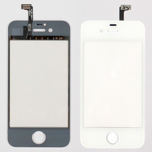 White Lcd Touch Screen Glass Digitizer Replacement For Iphone 4S front-594309
