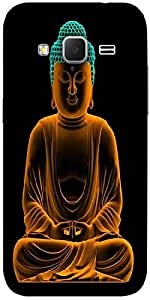 Snoogg Buddha Glowing Peace Designer Protective Back Case Cover For Samsung G...