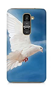 Amez designer printed 3d premium high quality back case cover for LG G2 (Dove Peace Sky Pigeon White)