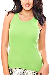Coucou by Zivame Women's Cotton Top (RB001-Lime green_Small)
