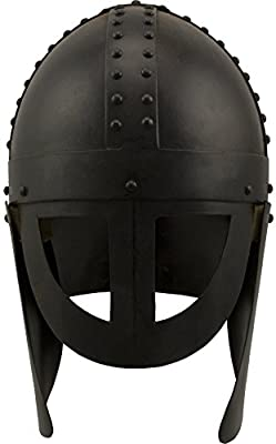 Red Deer Viking's Stronghold Spangenhelm Style Helmet Black