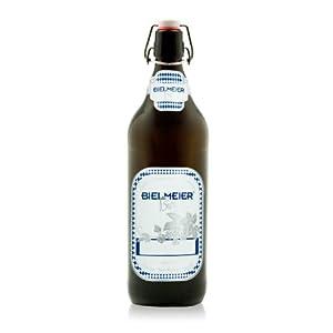 Bielmeier 040028 Bierflaschen, inklusive Etiketten aufklebbar, 6 Stück, 12 bar, 1 Liter