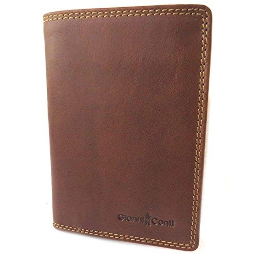Portafoglio in pelle 'Gianni Conti'cognac - 14x10x2 cm.