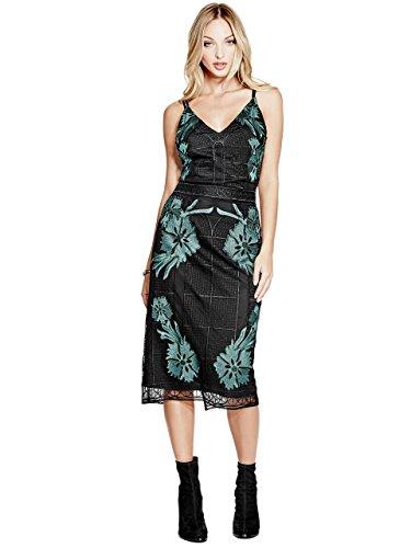 Guess Womens Sleeveless Larita Embroidery Dress