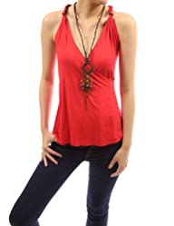 PattyBoutik Sexy & Unique Cross Back Necklace Hippie Top