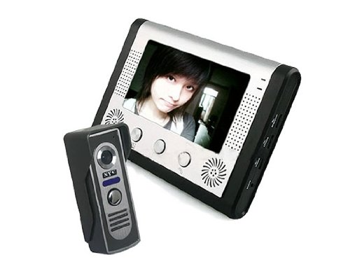 Sy801M Home Security Video Door Phone Intercom With 380Tv Line Outdoor Camera And 7 Inch Tft Lcd Monitor