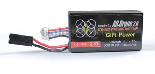 Parrot AR.Drone 2.0 1800mAh 11.1V 20C Li-Po Quadcopter Upgrade Battery