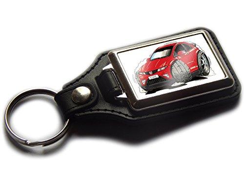 honda-civic-new-form-premium-koolart-leder-und-chrom-schlusselanhanger-wahlen-sie-eine-farbe-rot