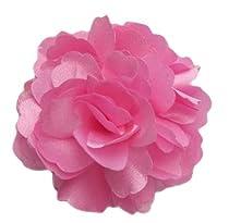 A Girl Company Pink Satin Flower Hair Bow/Clip/Brooch