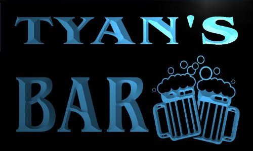 w091368-b TYAN'S Name Home Bar Pub Beer Mugs Cheers Neon Light Sign