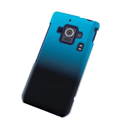 ELECOM docomo AQUOS PHONE ZETA SH-02E シェルカバー グラデーション ブラック×ブルー PD-SH02EPVWBBU