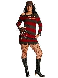 Secret Wishes  Nightmare On Elm Street Miss Krueger Costume, Black, Plus