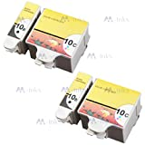 4x Compatible Kodak 10 Black &10 Colour Ink Cartridges For Easyshare ESP 3 ESP 5 ESP 7 ESP 9 ESP 3250 ESP 3200 ESP 5000 ESP 5200 ESP 5250 ESP 5300 ESP 5500 ESP 7250 ESP 9250 ESP Office 6150 Hero 6.1 7.1 9.1 Printers 10b 10c. (2x Black + 2x Colour)
