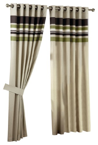 Curtina Harvard Green Eyelet Lined Curtain 90x90