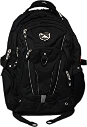 High Sierra Elite Business Backpack Black Fits 17\'\' Laptop Cushion Zone & Suspended Back Panel
