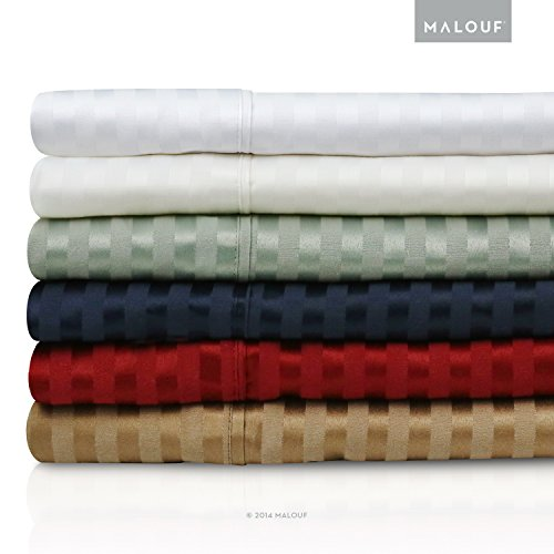 300Tc Cotton Blend Deep Pocket Sheets 5-Piece Bed Sheet Set- Wine, Split King front-813329