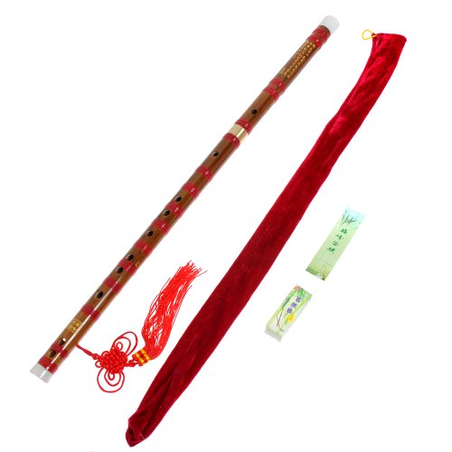 1pkg Traditional Handmade Dizi Bamboo Flute Chinese Musical Instrument in E Key
